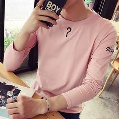 Besto - Embroidered Long-Sleeve T-Shirt