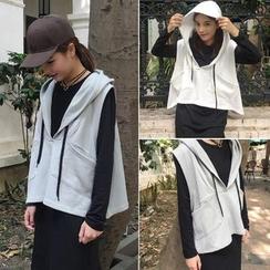Moon City - 套装: 长袖T恤 + 连帽马甲