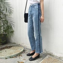 forever fair - Fray Straight Jeans