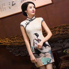 Bridal Workshop - Cap-Sleeve Print Cheongsam