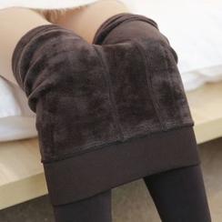 Meigo - 加绒抓毛无缝贴身裤