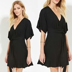 Chika - V-Neck Chiffon Dress