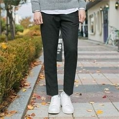 MITOSHOP - Drawstring-Waist Wool Blend Tapered Pants