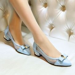 Romantina - 蝴蝶结尖头平跟鞋