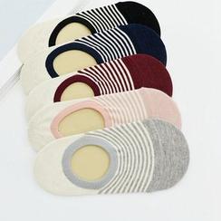 MITU - 條紋隱形船襪