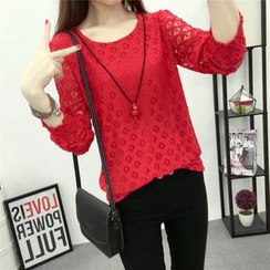 Fancy Show - Long-Sleeve Lace Top