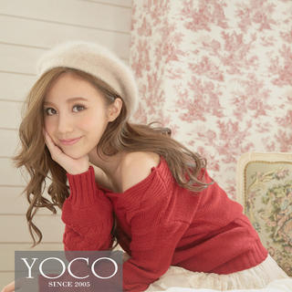 Tokyo Fashion - Off-Shoulder Cable-Knit Sweater