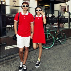 Azure - Couple Matching Polo Shirt / Polo Dress