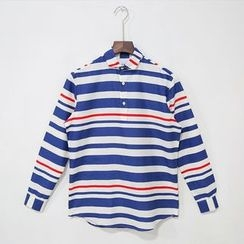 Mr. Cai - Long-Sleeve Striped Shirt