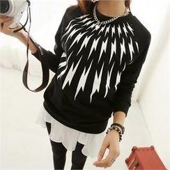 PIPPIN - Raglan-Sleeve Printed Sweatshirt