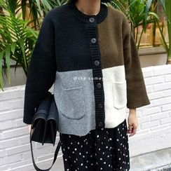 THESUMEY - Color-Block Cardigan