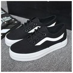 EUNICE - 厚底帆布鞋