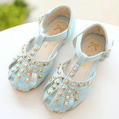 绿豆蛙童鞋 - 小童钉珠凉鞋