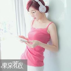 Tokyo Fashion - Lace-Trim Camisole Top