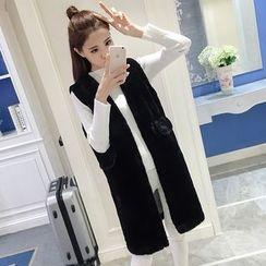 Cerulean - Furry Long Vest