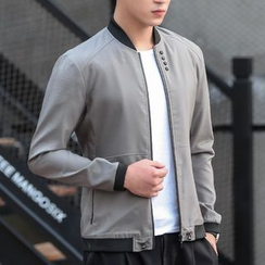 Bay Go Mall - Buttoned Bomber Jacket