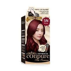 esfolio - Conpure Squid Ink Color Cream (#5N Red Wine): Hairdye 80g + Oxidizing Agent 80g + Hair Treatment 40g