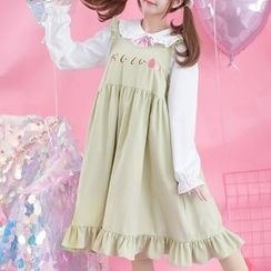 Moriville - Strawberry Frilled Pinafore