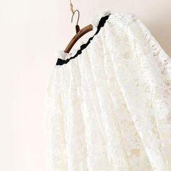 11.STREET - Lace Midi Skirt