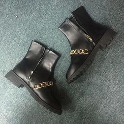 BAYO -  Chunky Heel Ankle Boots