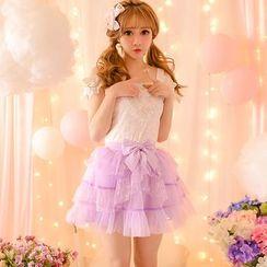 Candy Rain - Bow A-Line Skirt