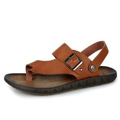 EnllerviiD - Genuine-Leather Thong Sandals