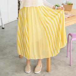 59 Seconds - Striped Maxi Skirt