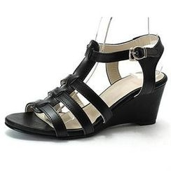 MODELSIS - Ankle-Strap Wedge Sandals