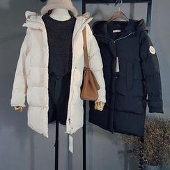 Glovon - Hooded Long Padded Coat