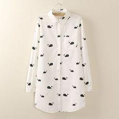 Tangi - 鲸鱼印花长袖衬衫