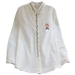 YOYO - Long-Sleeve Embroidery Shirt