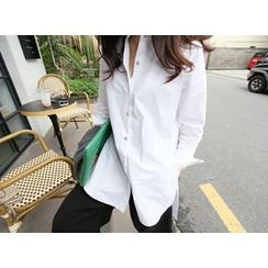 MARSHMALLOW - Dip-Back Long Shirt