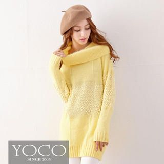 Tokyo Fashion - Cowl-Neck Bouclé Sweater