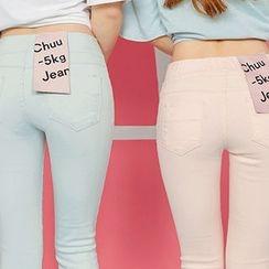 chuu - 束腰多色窄身长裤