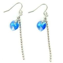 MyLittleThing - Just Love Earrings with Blue Swarovski Crystal