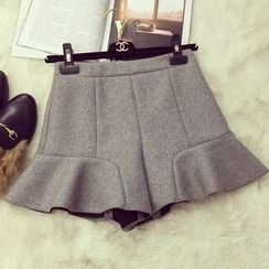 Glen Glam - Ruffle Knit Skirt