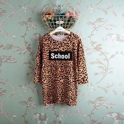 Kidora - Kids Leopard Print Long-Sleeve T-Shirt