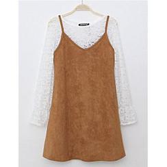 朵唯思 - 套裝: 長袖T恤 + 背帶裙