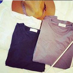 Dute - Long-Sleeve Round-Neck T-Shirt