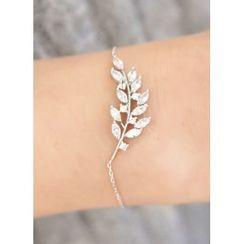 kitsch island - Rhinestone Leaf Bracelet