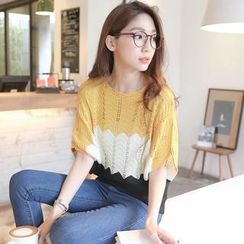 Tokyo Fashion - Color-Block Crochet Top