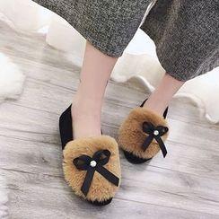 BARCA - Bow Furry Flats