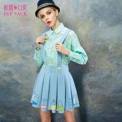 ELF SACK - Printed Suspender Skirt