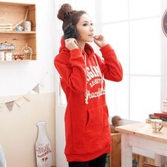 RingBear - Printed Hooded Long Pullover