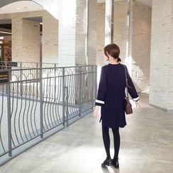 mimi&didi - Contrast-Trim Rib-Knit Dress