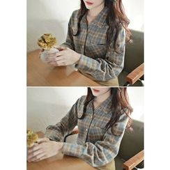 MyFiona - Pocket-Front Check Shirt
