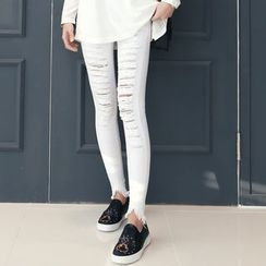 DANI LOVE - Distressed Skinny Pants