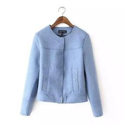 Chicsense - Suede Cropped Jacket