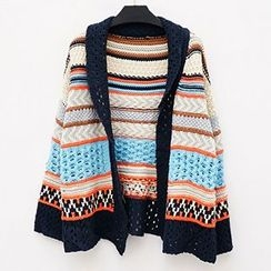 Polaris - Open Knit Patterned Cardigan