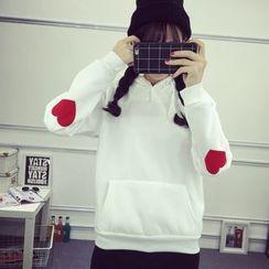 Ukiyo - Heart Applique Hoodie
